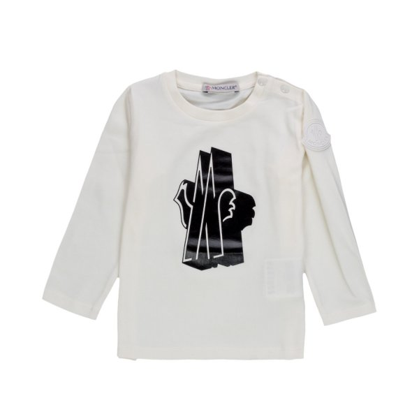 Moncler - LONG SLEEVE T-SHIRT FOR BABY BOY