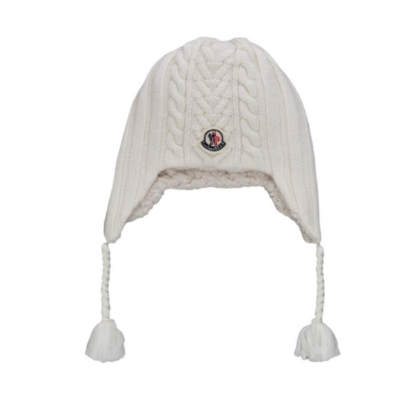 Moncler - WOOL HAT FOR BABY GIRLS