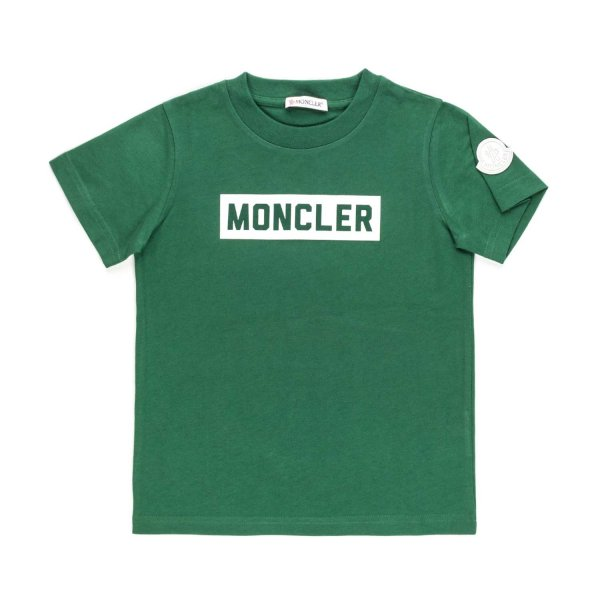 Moncler - T-SHIRT WITH LOGO PRINT FOR BOY