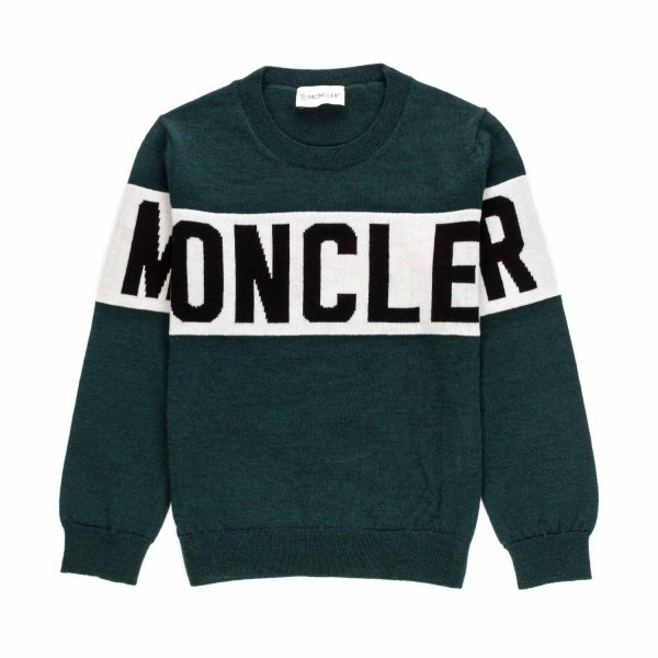 Moncler - WOOL PULLOVER FOR BOYS