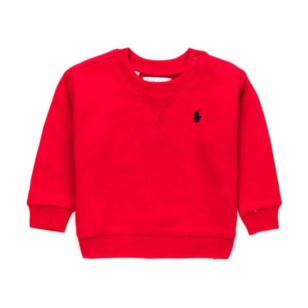 Ralph Lauren - BABY BOY RED COTTON SWEATSHIRT