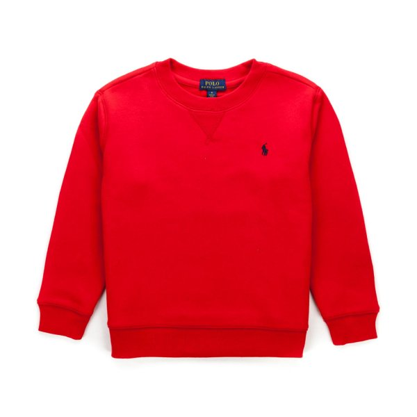 Ralph Lauren - RED LOGO SWEATSHIRT FOR BOYS