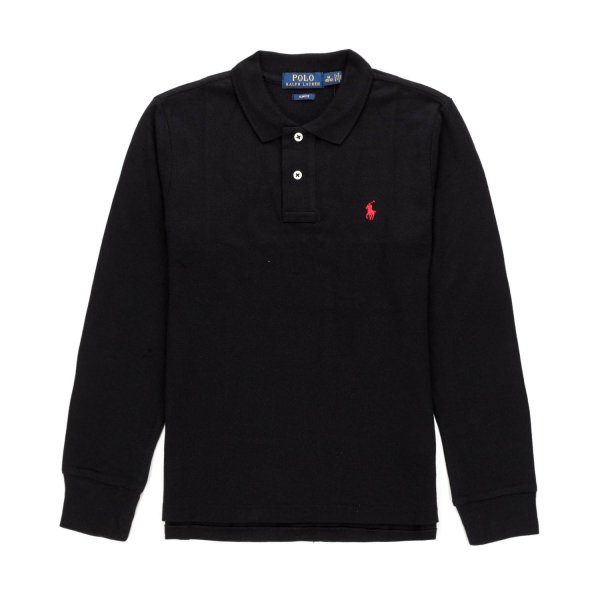 Ralph Lauren - BLACK POLO SHIRT FOR BOY