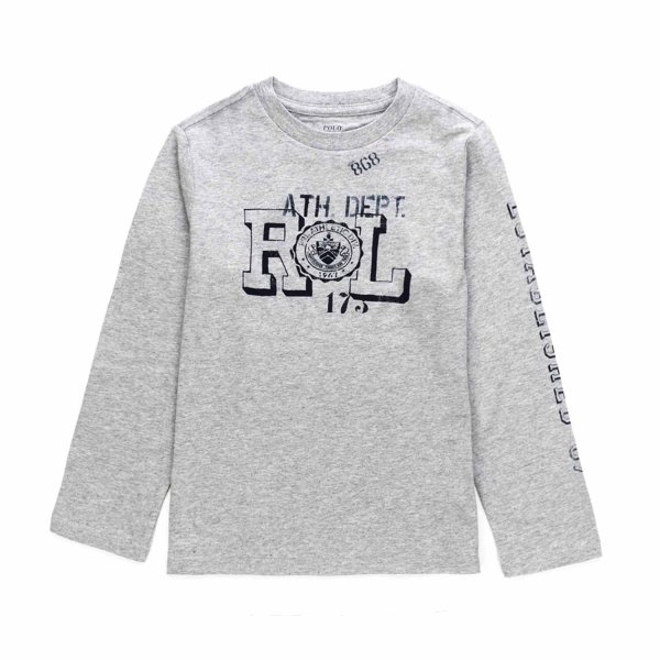 Ralph Lauren - BOY GREY COTTON T-SHIRT