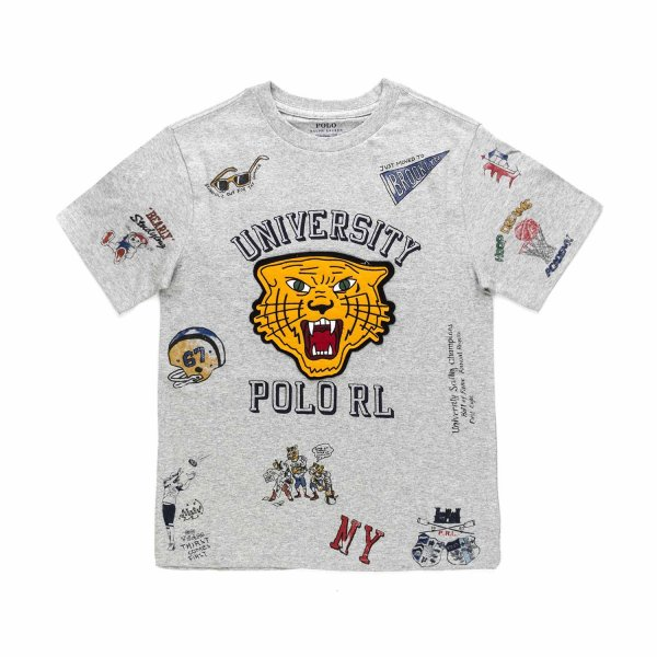 Ralph Lauren - BOYS GREY COTTON T-SHIRT