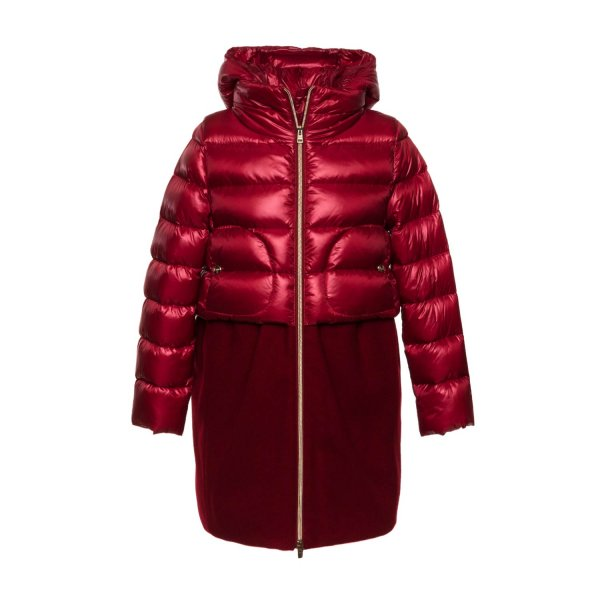 Herno - RED DOWN COAT FOR GIRLS