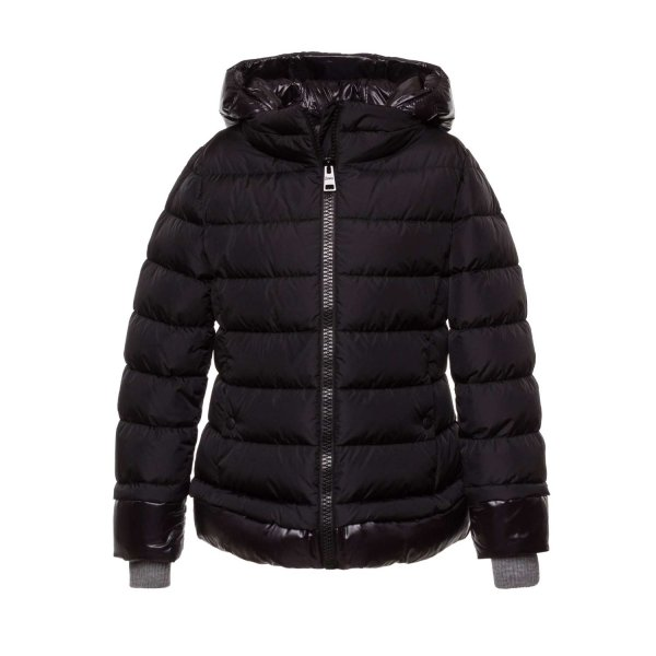 Herno - BLACK DOWN JACKET FOR GIRL