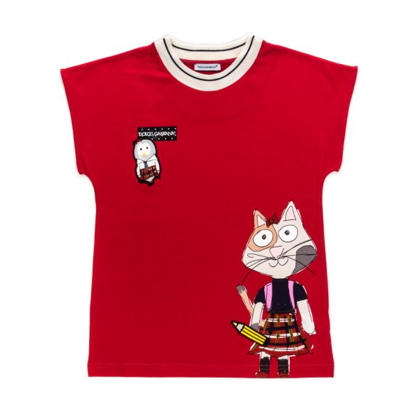 Dolce & Gabbana - RED T-SHIRT FOR GIRLS