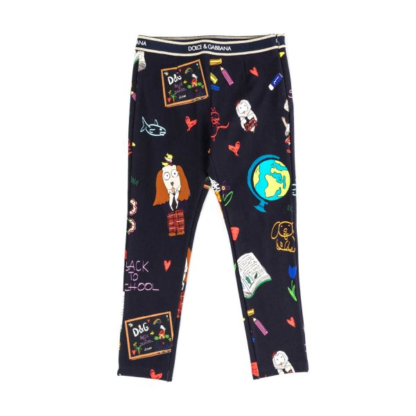 Dolce & Gabbana - COTTON LEGGINGS FOR GIRLS