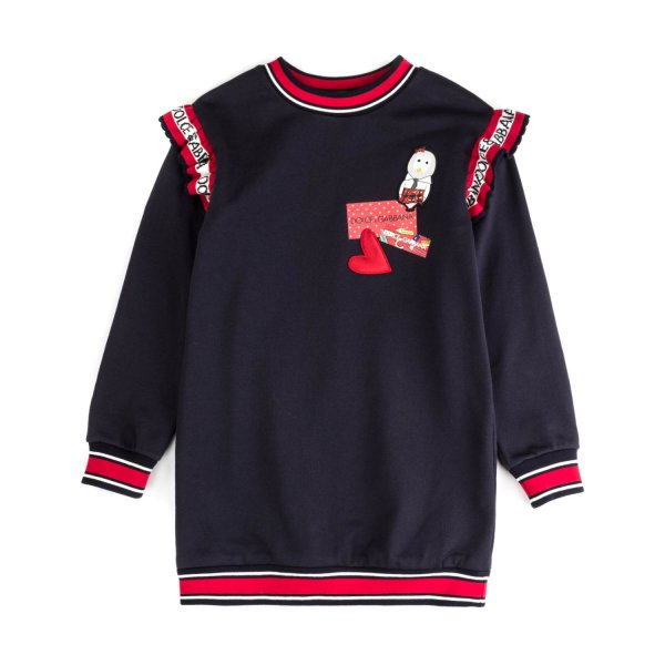 Dolce & Gabbana - FLEECE DRESS FOR GIRLS
