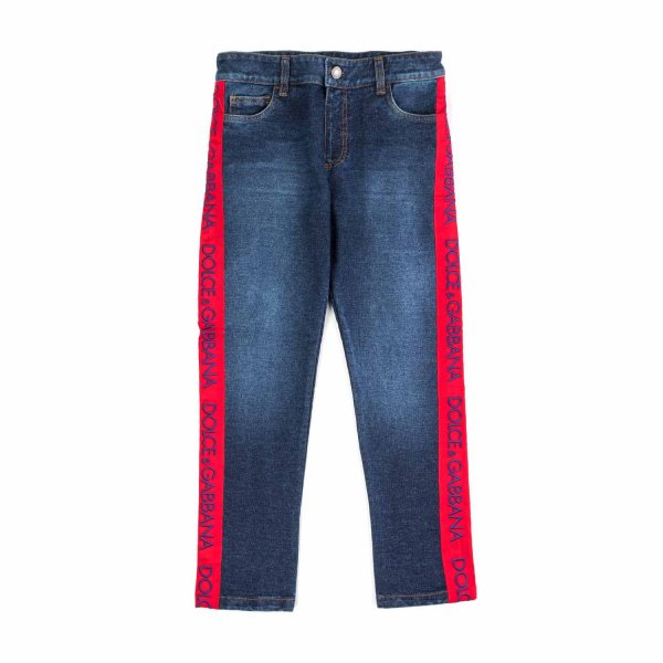 Dolce & Gabbana - ELASTICATED JEANS FOR GIRL