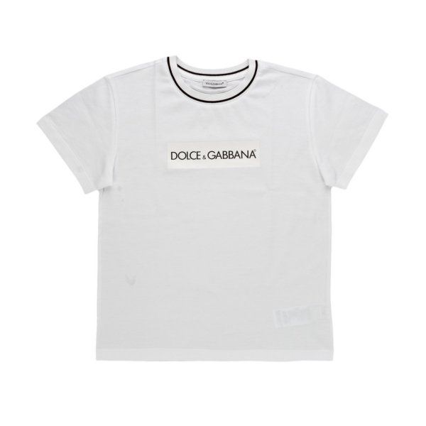 Dolce & Gabbana - LOGO WHITE T-SHIRT FOR BOY