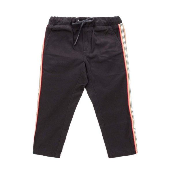 Burberry - BABY UNISEX BLACK TROUSERS