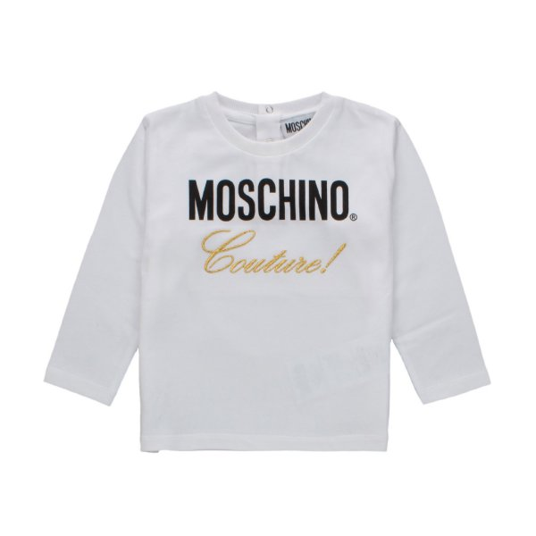 Moschino - White Sweatshirt With Contrast Lettering