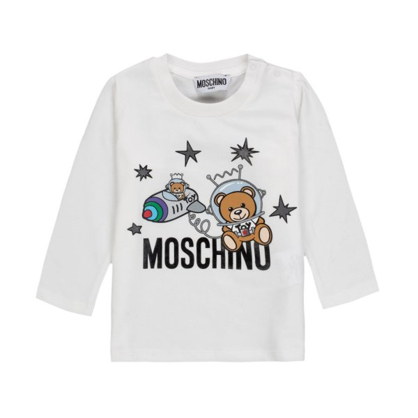Moschino - WHITE LOGO T-SHIRT FOR BABY BOYS