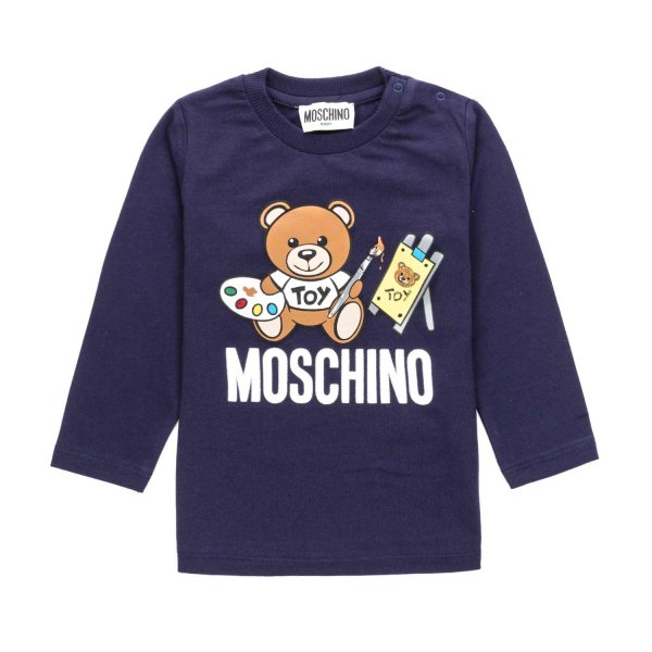 Moschino - BABY GIRL T-SHIRT WITH TEDDY BEAR