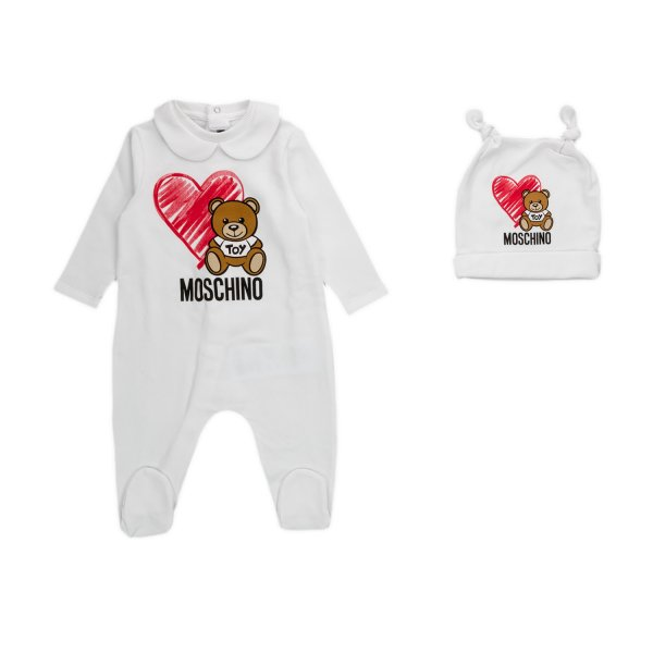 Moschino - BABY ROMPER AND HAT SET