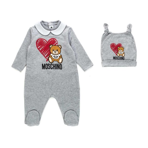 Moschino - ROMPER AND HAT SET FOR BABY