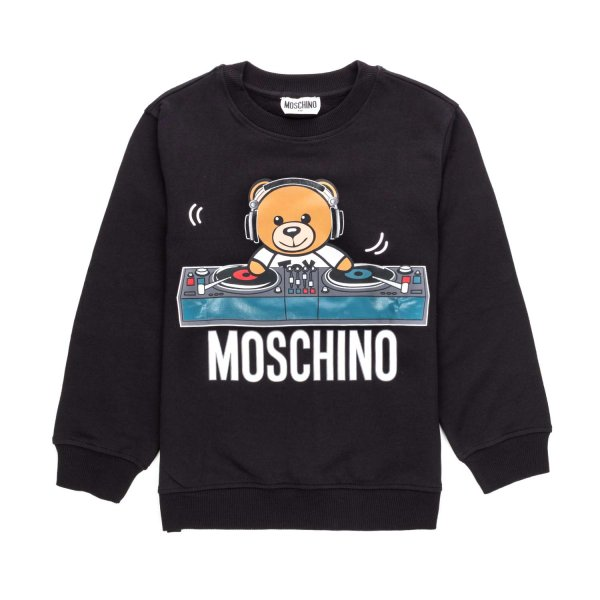 Moschino - BLACK LOGO SWEATSHIRT FOR BOY