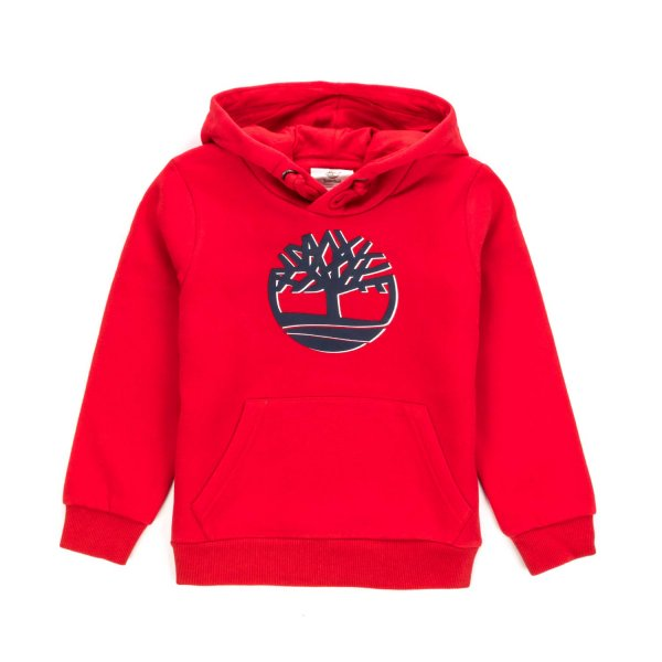 Timberland - RED HOODIE WITH LOGO FOR BOYS