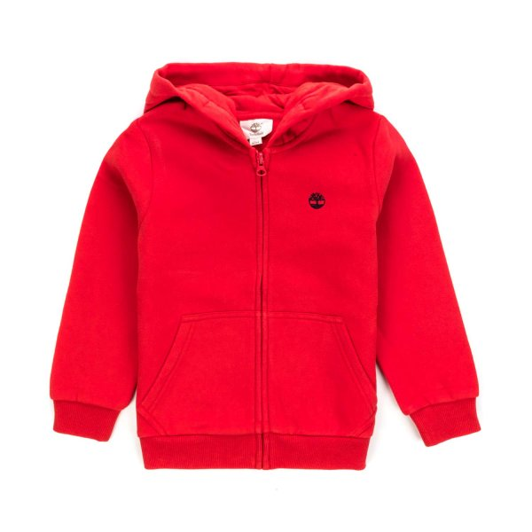 Timberland - RED ZIP UP HOODIE FOR BOY