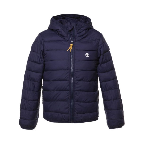 Timberland - BOY BLUE DOWN JACKET WITH LOGO