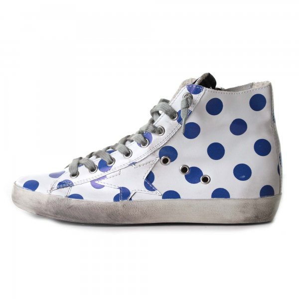 Golden Goose - Sneakers Francy Pois pelle con stella teen