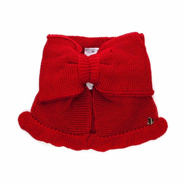Monnalisa - RED SHRUG WITH BOW FOR GIRLS