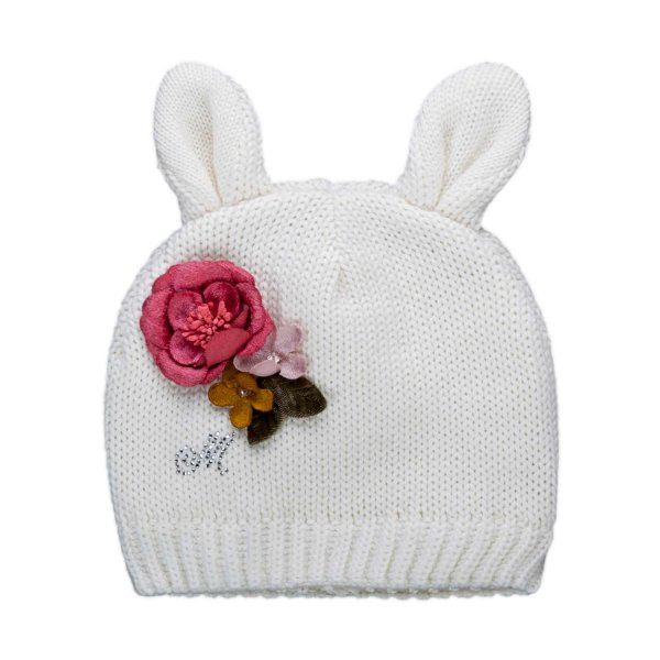Monnalisa - BABY GIRL BEANIE WITH EARS