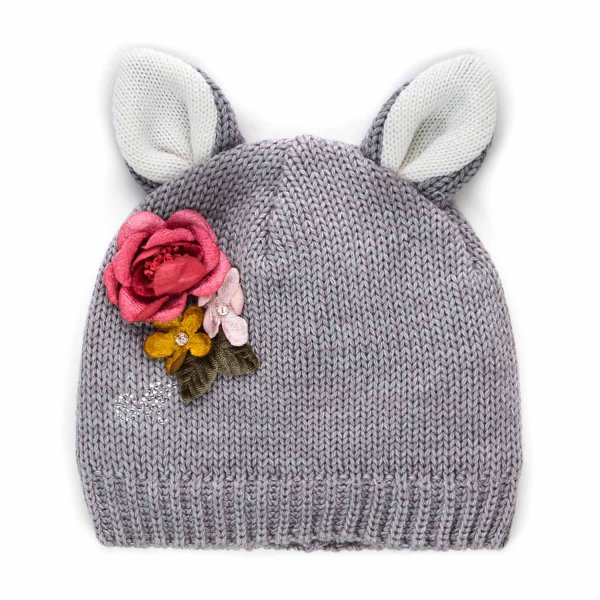 Monnalisa - BEANIE WITH EARS FOR BABY GIRL