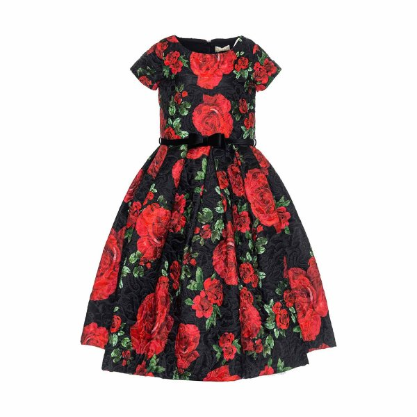Monnalisa - DRESS WITH ROSES FOR GIRLS