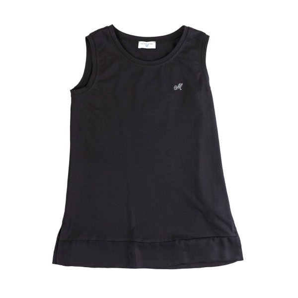 Monnalisa - BLACK COTTON TOP FOR GIRLS