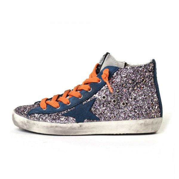 Golden Goose - Sneakers Francy all over glitter con stella junior