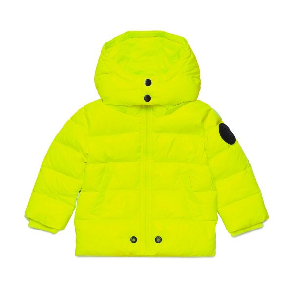 Diesel - BABY BOY FLUO YELLOW DOWN JACKET