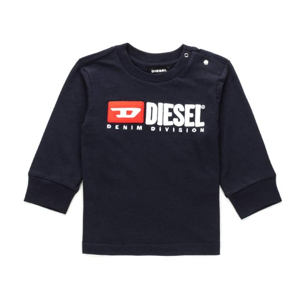 Diesel - BLUE LOGO T-SHIRT FOR BABY BOY