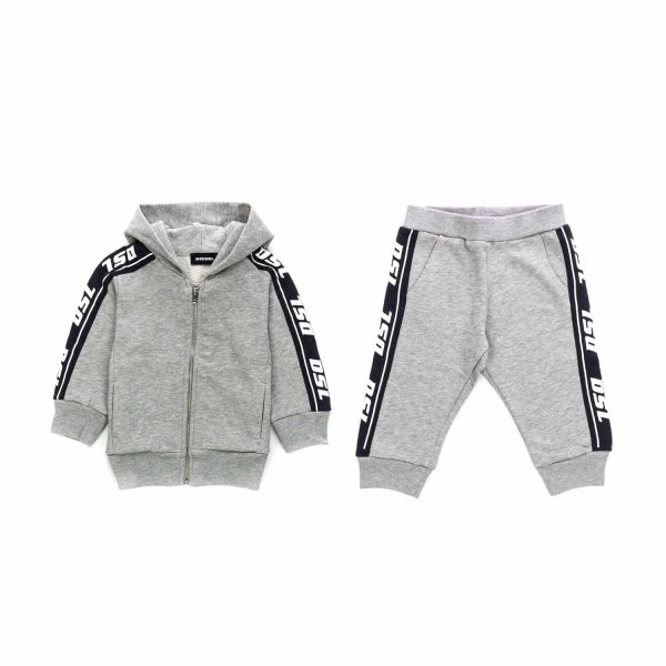 Diesel - UNISEX GREY COTTON TRACKSUIT