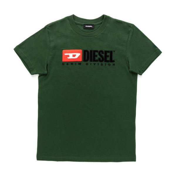 Diesel - GREEN T-SHIRT WITH LOGO FOR BOY