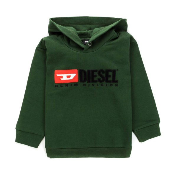 Diesel - GREEN HOODIE FOR BOYS