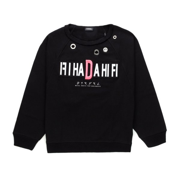 Diesel - BLACK SWEATSHIRT FOR GIRLS