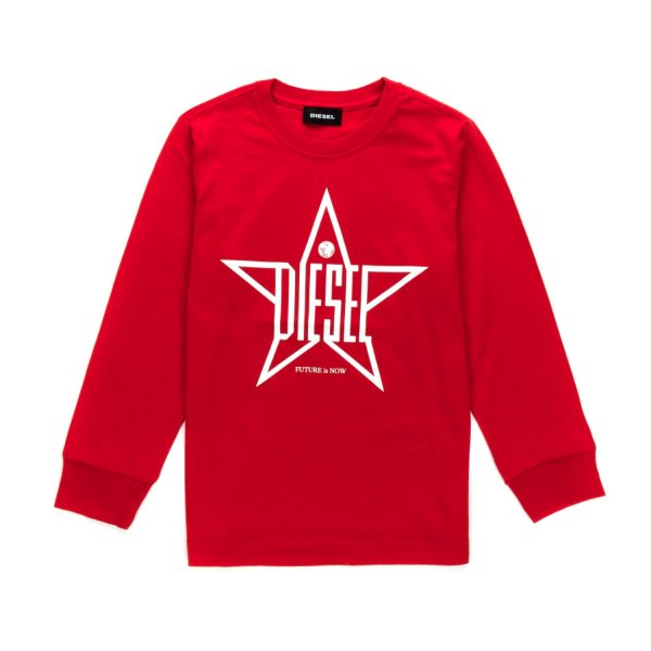 Diesel - LONG SLEEVE T-SHIRT FOR BOYS