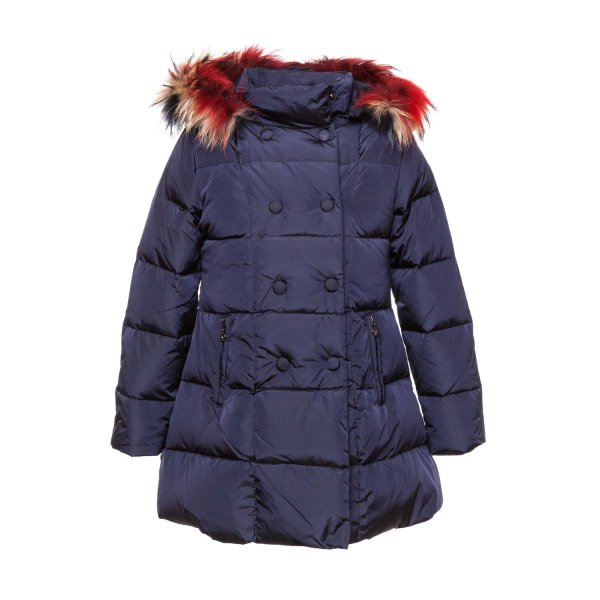 Elsy - BLUE DOWN JACKET FOR LITTLE GIRL