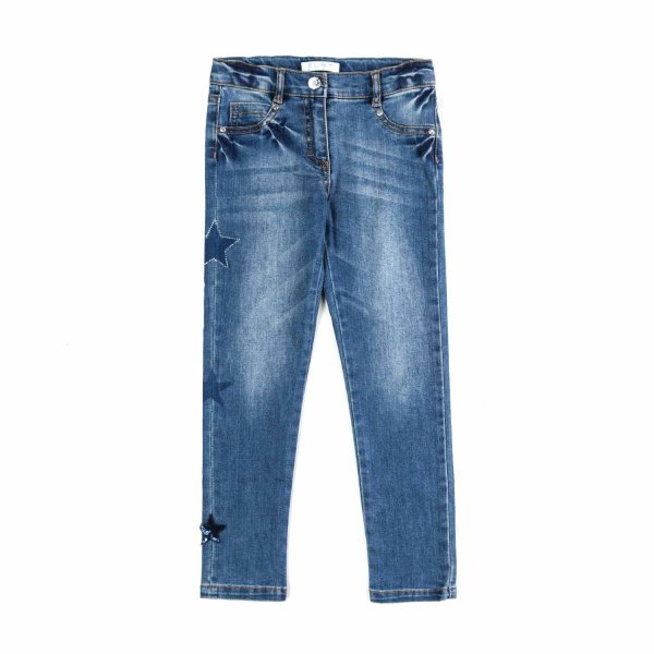 Elsy - JEANS WITH STARS FOR LITTLE GIRLS