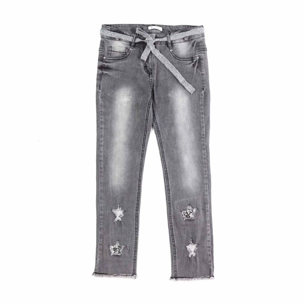 Elsy - GREY JEANS FOR GIRL AND TEENAGER
