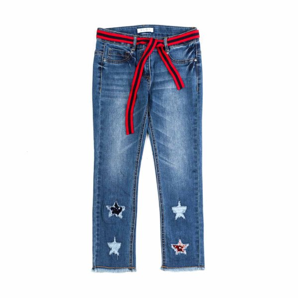 Elsy - JEANS WITH STARS FOR GIRLS