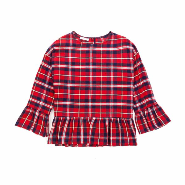 Elsy - TARTAN BLOUSE FOR GIRLS