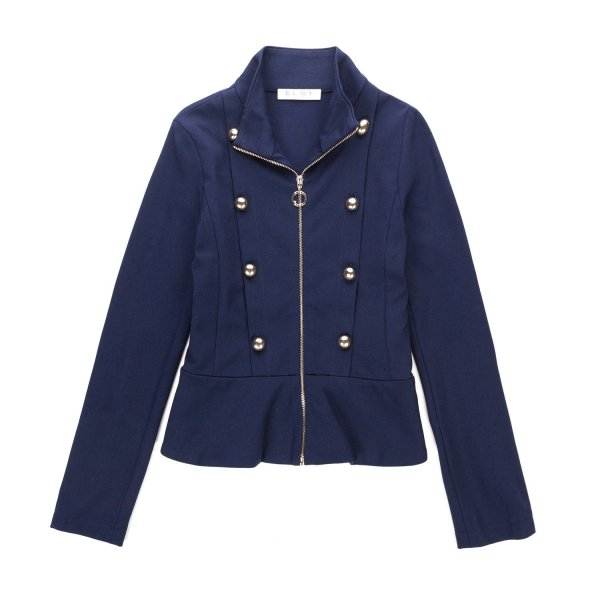 Elsy - BLUE ZIP UP JACKET FOR GIRLS