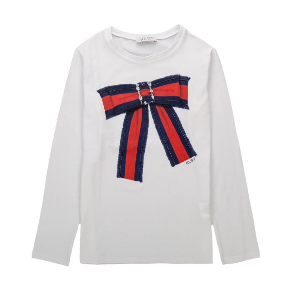 Elsy - T-SHIRT WITH BOW FOR GIRLS