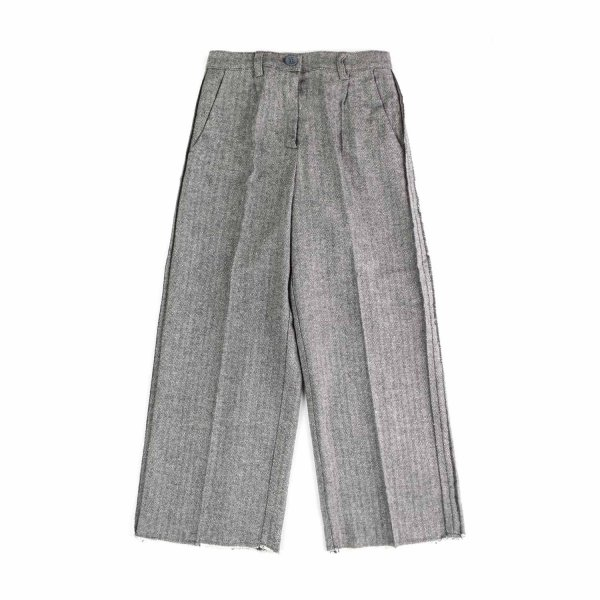 Dondup - GIRL GREY  PALAZZO TROUSERS