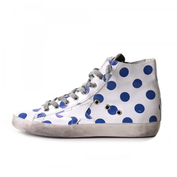 Golden Goose - Sneakers Francy Pois pelle con stella junior