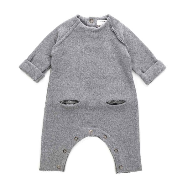 One More In The Family - GREY ROMPER FOR BABY